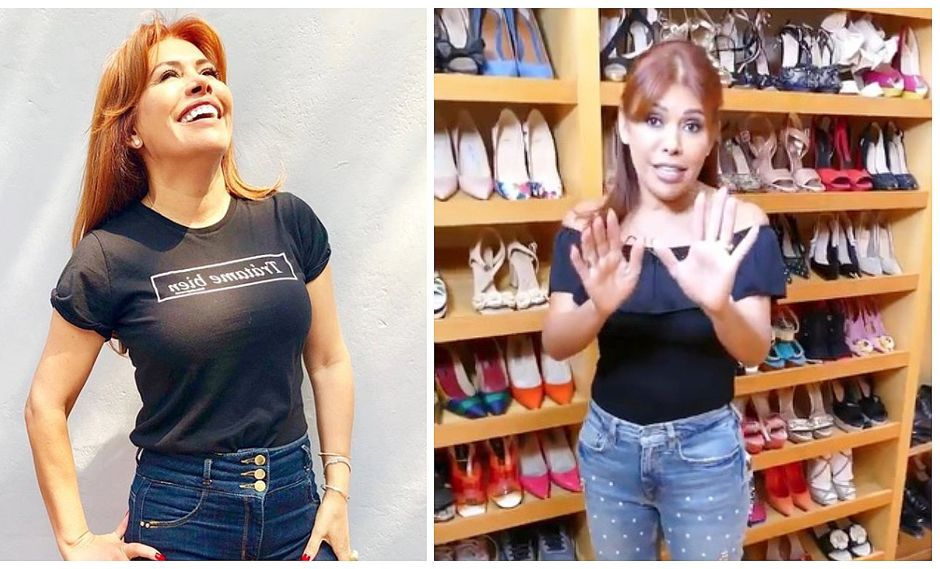 Magaly Medina impresiona a sus seguidores con su colección de zapatos (VIDEO)