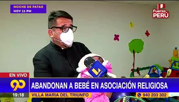 El padre Omar Sánchez declarando a Latina sobre la bebé que abandonaron en la puerta de la asociación que dirige.   Foto: Captura de pantalla.