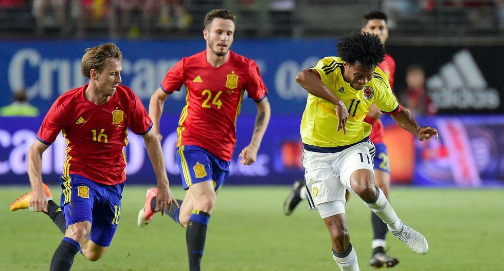 Colombia empató 2-2 con España en partido amistoso