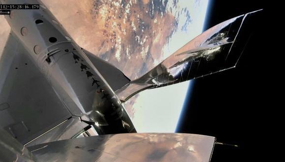Archivo. Dos empresas se posicionan en el nicho de los viajes cortos al espacio, de unos pocos minutos de estadía: Blue Origin, del multimillonario Jeff Bezos, y Virgin Galactic, del también multimillonario Richard Branson. (Virgin Galactic / AFP)