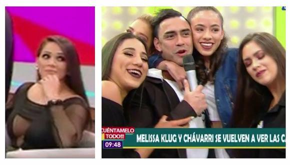 La reacción de Melissa Klug al ver a sus hijas abrazando a Diego Chávarri (VIDEO)