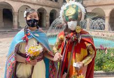 Cusqueño y japonesa se casan al estilo antiguo en Cusco:  él como guerrero y ella como princesa inca (FOTOS)