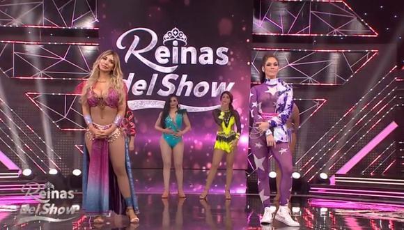 """Paula Manzanal se despidió de """"Reinas del Show"""" y Jazmín Pinedo llega a las octava gala. (Foto: Captura América TV)."""