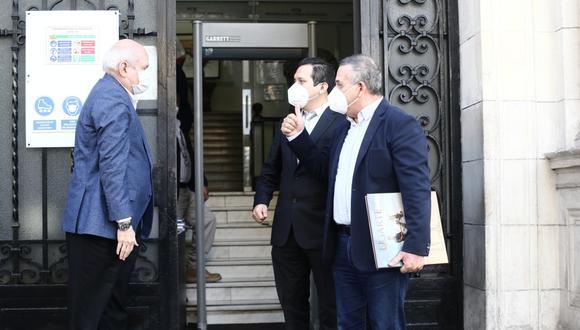 Daniel Urresti y José Luna Morales se reunieron el presidente del Consejo de Ministros, Pedro Cateriano. (Foto: Jesus Saucedo/GEC)