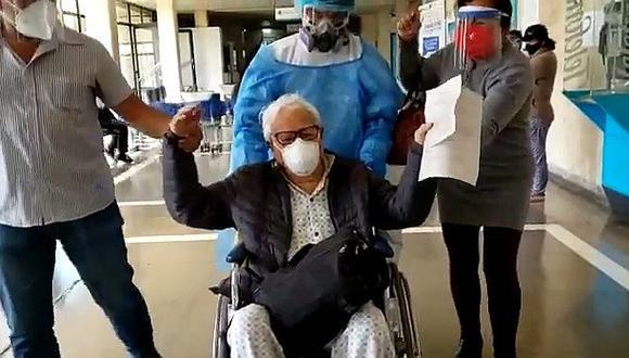 Anciano de 85 años vence a la COVID-19 en Arequipa