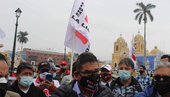 Dirigente Rumaldo Viera da ultimátum a gobierno de Pedro Castillo para que designe en cargos a militantes de La Libertad.