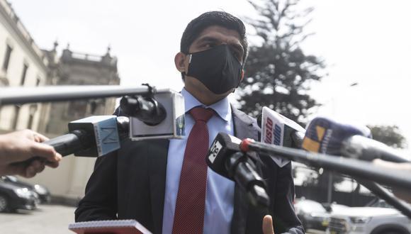 Juan Carrasco dijo que el gabinete sigue los lineamientos del gobierno de Pedro Castillo. (Foto: GEC)