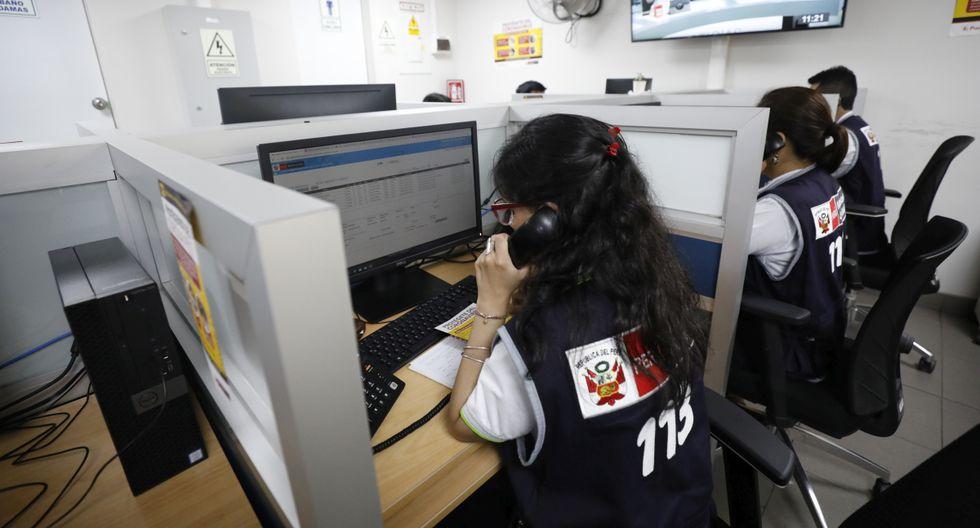 Línea 113 recibe más de 20 mil llamadas diarias. (Foto: GEC)