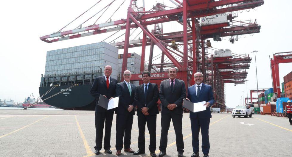Firma de adenda para la ampliación del Muelle Sur del Terminal Portuario del Callao.