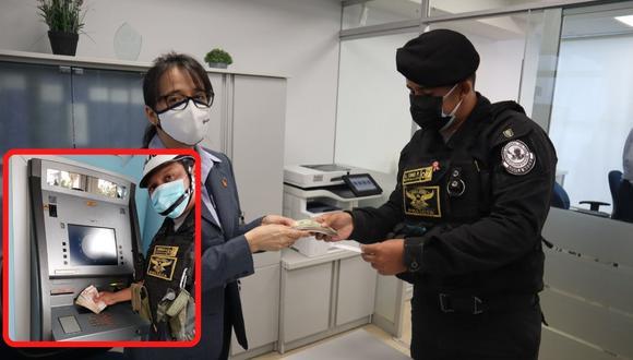 Los agentes se encontraban realizando patrullaje en el centro de la ciudad de Piura cuando encontraron el dinero
