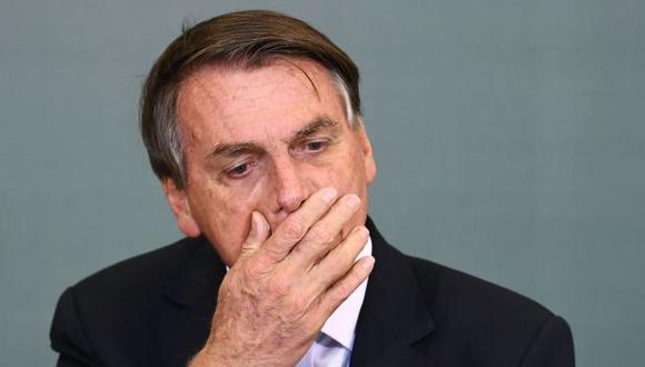 Jair Bolsonaro se quedó con las ganas de entrar a estadio para el Santos vs. Gremio. (Foto: AFP)