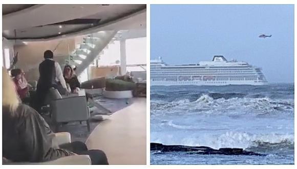 Pasajeros de crucero vivieron dramático momento tras falla de los motores de la nave