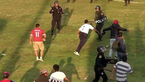 Copa Perú: Batalla campal en partido Yawars - Deportivo Garcilaso en Cusco (FOTOS)