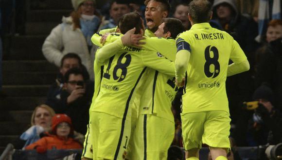 Champions League: Barcelona derrotó 2-1 al Manchester City