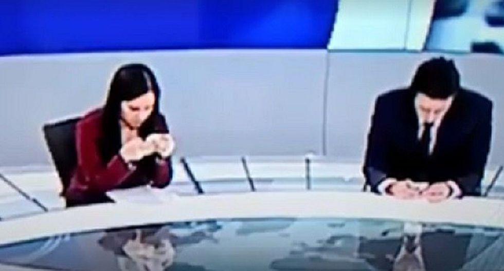 Conductores de televisión reaccionaron así al darse cuenta que estaban al aire (VIDEO)