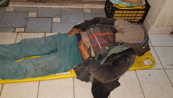 Se sabe que el anciano tenía dos hijos, pero estos lo dejaron en la calle abandonado y sin nada. (Foto: Difusión)