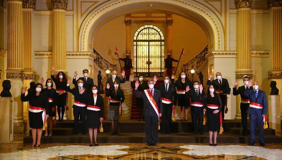 El presidente del Perú, Francisco Sagasti, tomó juramento esta noche a los integrantes de su gabinete ministerial. (Foto: Presidencia)