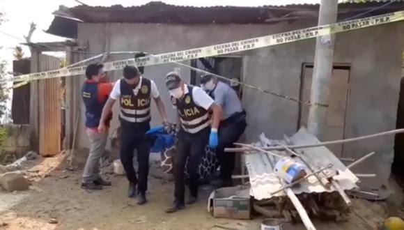 Policías llegaron para el levantamiento del cuerpo