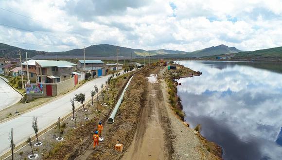 Pasco: empresa ejecuta obras para reducir riesgo de desembalse en relavera Quiulacocha (Foto difusión)