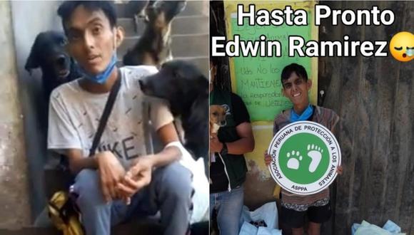 Edwin Ramírez Neyra amaba a sus perros y ahora sus amigos piden ayuda para que los animales no queden abandonados.