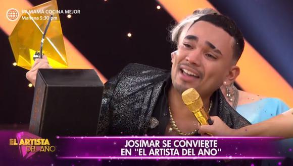 El salsero líder de 'Josimar y su Yambú' se convirtió en el ganador de la primera temporada del 2021 de 'El Artista del Año', tras vencer a Pamela Franco y a 'La Uchulú'. (Foto: América TV).
