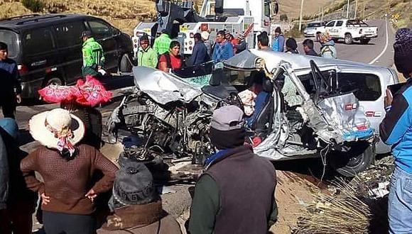 Choque de vehículos deja un muerto y varios heridos en Cusco (FOTOS)
