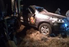 Despiste de patrullero deja un policía muerto y otro herido en carretera Juliaca-Azángaro