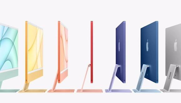 La nueva pantalla del iMac, de únicamente 11,5 milímetros, tendrá un tamaño de 24 pulgadas y una resolución de 4,5K. (Apple / Europa Press)