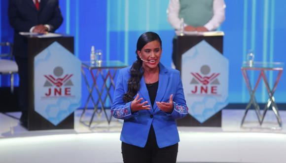 La candidata presidencial de Juntos por el Perú respondió a lo que señaló Ollanta Humala sobre los vínculos del ministro de Salud, Óscar Ugarte, con Juntos por el Perú. (Foto: Anthony Niño de Guzmán/GEC)