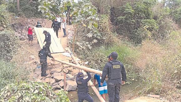Solo en la última semana los agentes del orden retiraron 15 puentes clandestinos en la frontera.