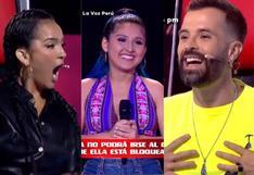 Daniela Darcourt molesta con Mike Bahía por bloquear otra vez su silla en 'La Voz Perú'