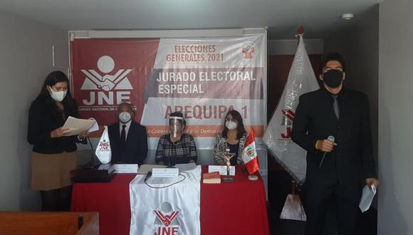 Instalaron el Jurado Electoral Especial en Arequipa para las elecciones 2021  Foto: JEE