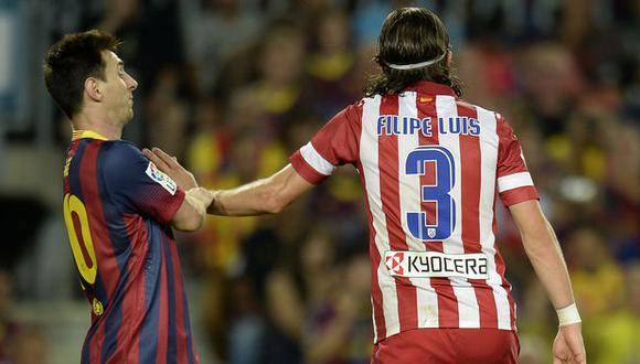 Atlético de Madrid: Sanción para Filipe Luis tras brutal patada a Lionel Messi