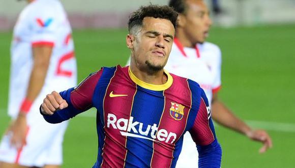 Philippe Coutinho ha anotado un gol en los cinco partidos que ha jugado por LaLiga 2020-21. (Foto: AFP)