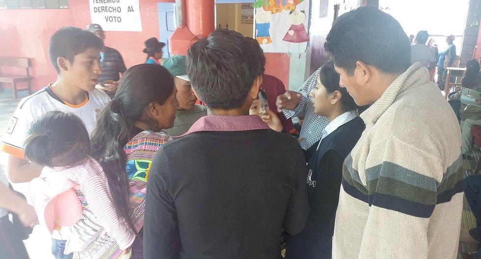 JEE Huamanga informó que gran parte de la población tuvo problemas a la hora de votar