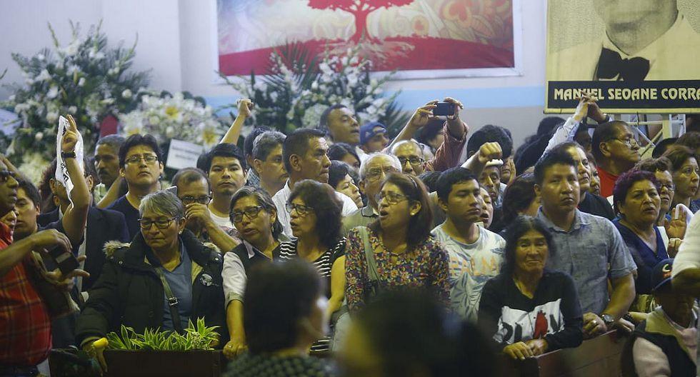 Alan García: Exprimera dama Pilar Nores recibe condolencias durante velatorio en la 'Casa del Pueblo'