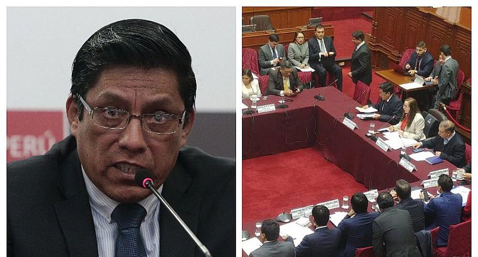 Ministro de Justicia, Vicente Zeballos se presenta ante Comisión de Constitución por reforma política