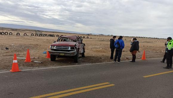 Camioneta con sus tripulantes se dirigía a Yunguyo Puno por la carretera hacia Tarata. (Foto: Difusión)