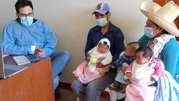 Cajamarca: Trillizos de cinco meses son atendidos de manera virtual Tambo Caserío Shita Baja del Programa Nacional PAIS del Ministerio de Desarrollo e Inclusión Social (Midis), situado en el distrito de Jesús. (Foto Midis)