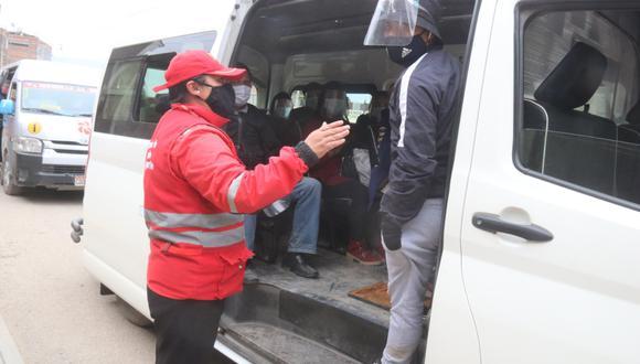 Municipalidad de Huancayo realiza operativo a transportistas. A infractores se les multa con el 10% de la UIT