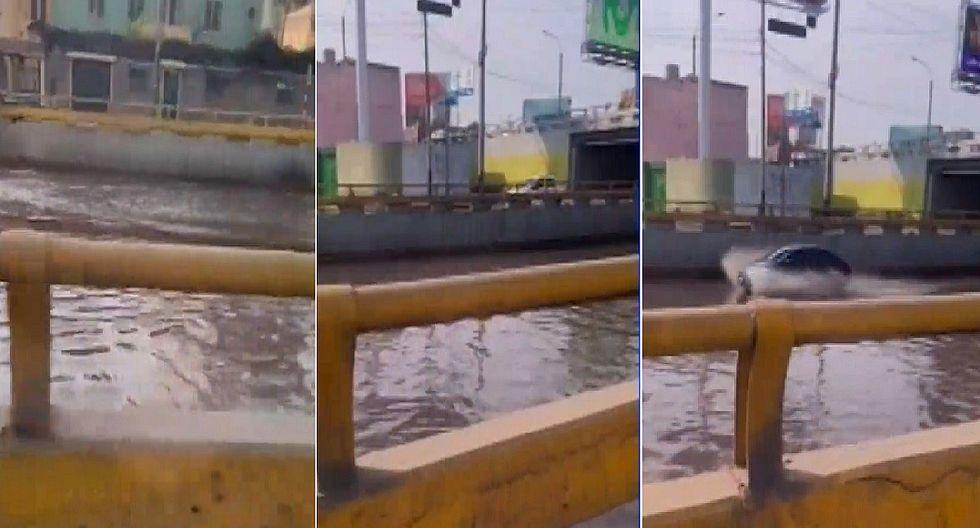 Lima: Se registra aniego en la avenida Brasil (VIDEO)