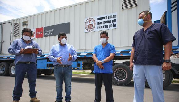 Inicia instalación de la nueva planta generadora de oxígeno móvil en Ica (Foto: GORE Ica).