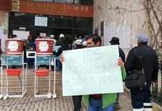 Huancavelica: Agricultores salen a protestar exigiendo apoyo por cultivos afectados