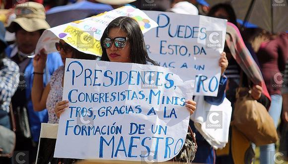 Cusco: Vea cómo profesores tomaron Sacsayhuamán en medio de protestas (VÍDEO)