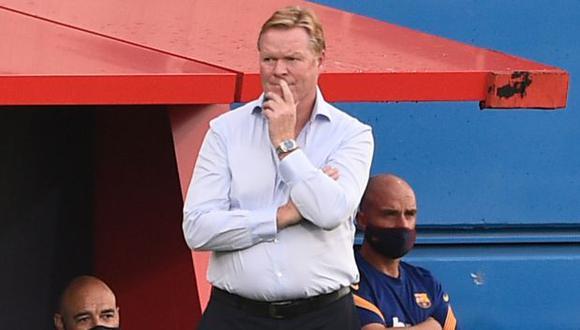 Ronald Koeman tomó el mando de Barcelona tras desvincularse de la selección de Holanda. (Foto: AFP)