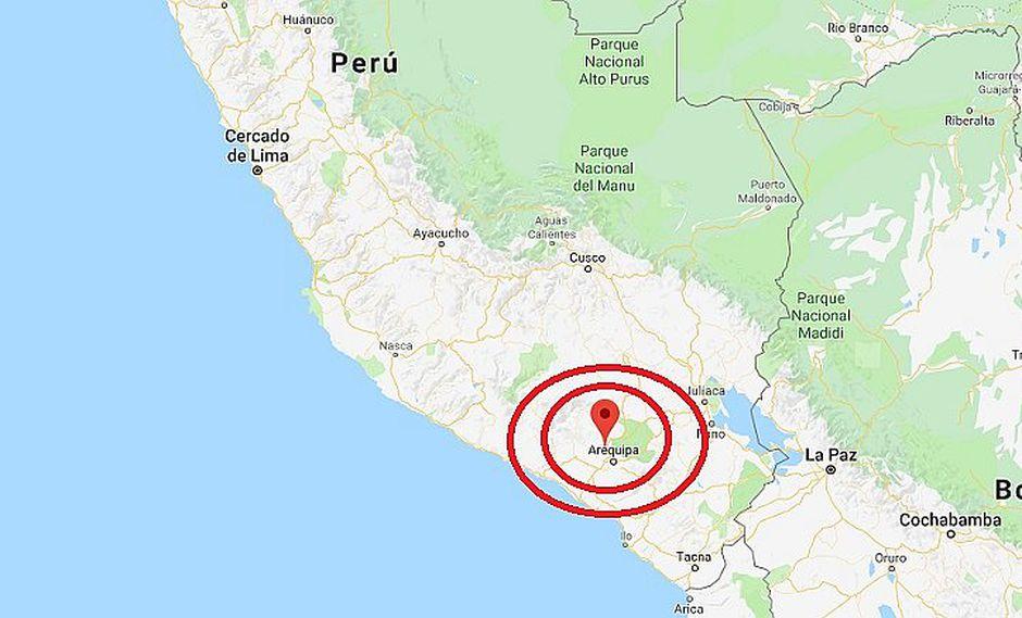 Sismo de 5.8 grados se registra en Arequipa