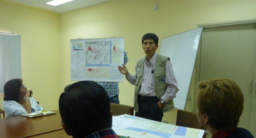Coer Arequipa recibió mapas sismicos volcánicos elaborados por el OVS