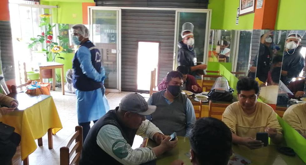Intervienen restaurantes en Tacna que no respetan el distanciamiento social