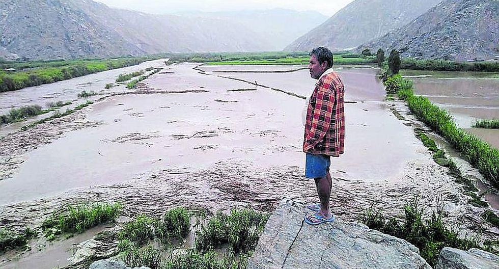 Río arrasa 75 hectáreas de arroz en Quilca