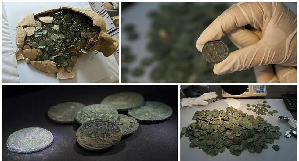 España: Descubren un 'tesoro' de 600 kilos de monedas romanas